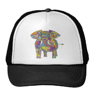 Rainbow Elephant, colourful design,for anyone. Cap