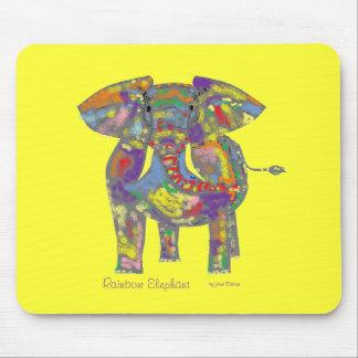 Rainbow Elephant, colourful design,for anyone. Mouse Pad