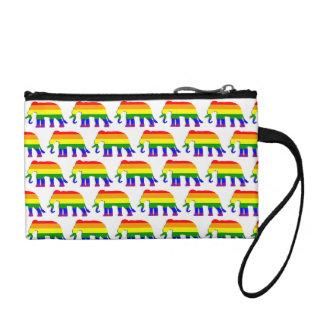 Rainbow elephant pattern coin purse