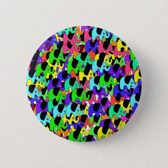 Rainbow elephants button
