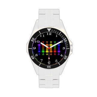 Rainbow Elixir Men's Stainless Steel Wrist Watch