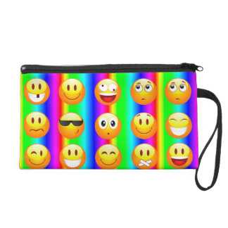 rainbow emoji bag purse wristlet