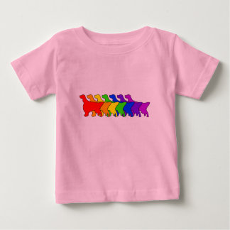 Rainbow English Setter Baby T-Shirt