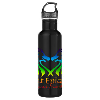 Rainbow Epic Knits Logo Waterbottle 710 Ml Water Bottle