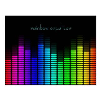 rainbow equalizer postcard