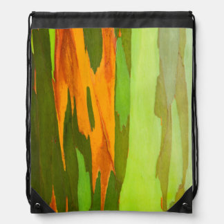 Rainbow Eucalyptus bark, Hawaii Drawstring Bag