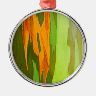 Rainbow Eucalyptus bark, Hawaii Silver-Colored Round Decoration
