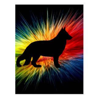rainbow explosion german shepherd silo.png postcard