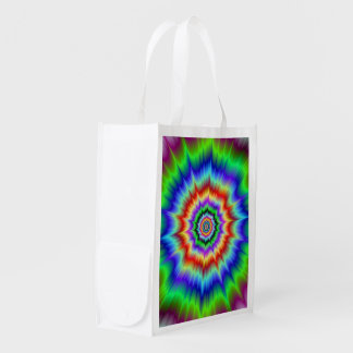 Rainbow Explosion Grocery Bags