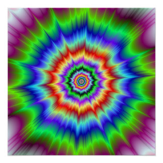 Rainbow Explosion The Zazzle Perfect Poster