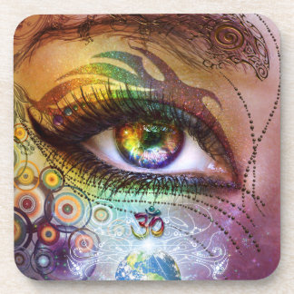 Rainbow Eye Love & Light Coaster