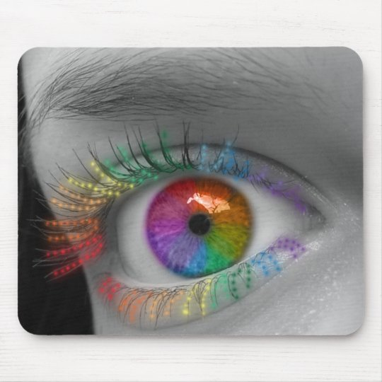 Rainbow Eye Mouse Mat