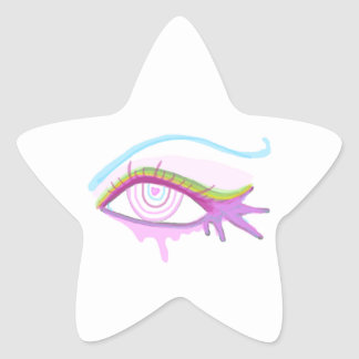Rainbow Eye Star Sticker