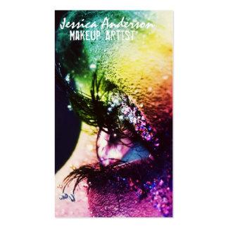 Rainbow Eyes Makeup Artist Pack Of Standard Business Cards