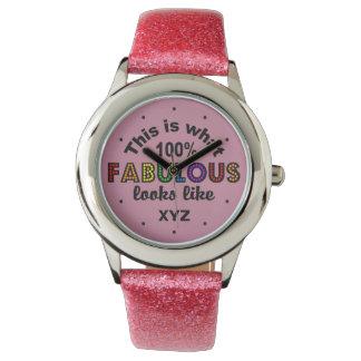 Rainbow Fabulous custom initials watches