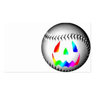 Rainbow Face Baseball Business Card Templates