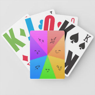Rainbow Face Cards Card Deck