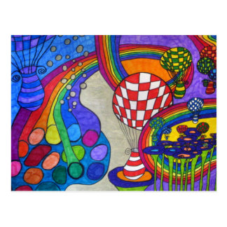 Rainbow Factory Postcard