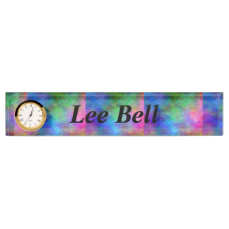 Rainbow Faded Name Plate