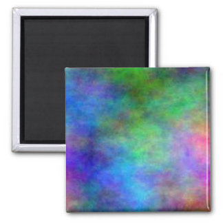 Rainbow Faded Square Magnet