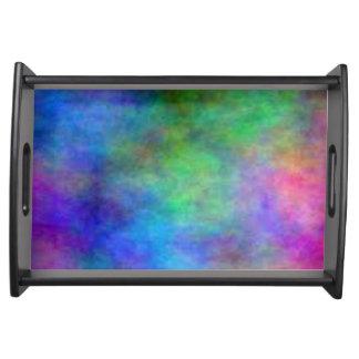 Rainbow Faded Food Trays