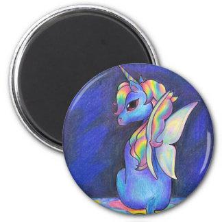 Rainbow Faerie Unicorn Refrigerator Magnets