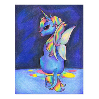 Rainbow Faerie Unicorn Postcard