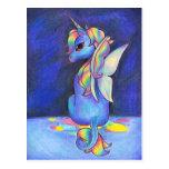 Rainbow Faerie Unicorn Postcards