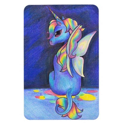Rainbow Faerie Unicorn Rectangle Magnets