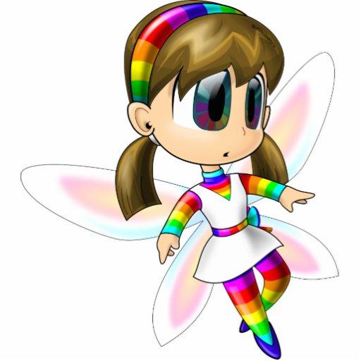 Rainbow fairy acrylic cutout photo cut out