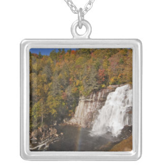 Rainbow Falls in Gorges State Park in North Silver Plated Necklace