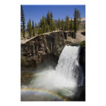 Rainbow Falls in Mammoth Poster