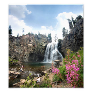 Rainbow Falls Waterfall - Devils Postpile - Sierra Photograph
