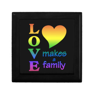 Rainbow Family gift / jewelry box