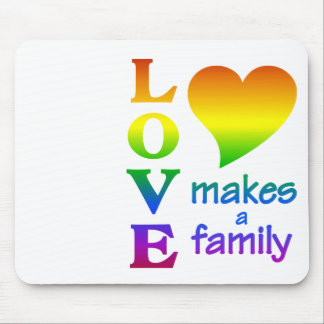 Rainbow Family mousepad, customize Mouse Mat
