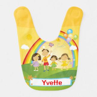 Rainbow Family Theme Baby Bib