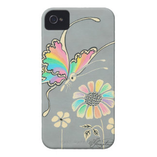 Rainbow Fantasy Butterfly iPhone 4 Covers