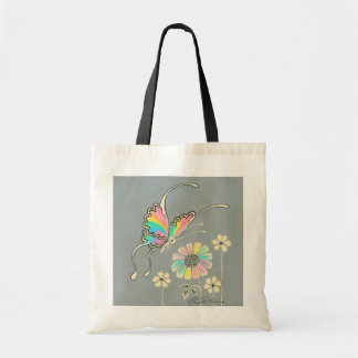 Rainbow Fantasy Butterfly Budget Tote Bag