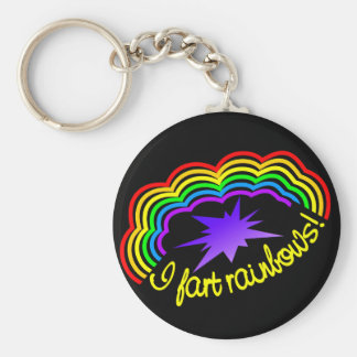 Rainbow Farts key chain