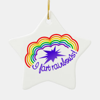 Rainbow Farts ornament, customize Christmas Ornament