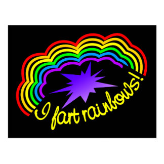 Rainbow Farts postcard, customize Postcard
