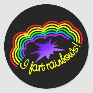 Rainbow Farts stickers