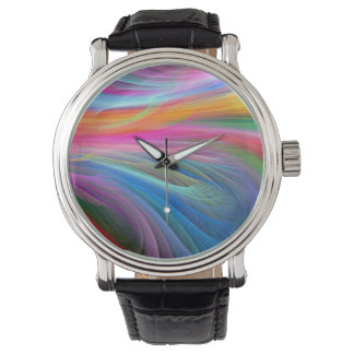 rainbow feather.png wrist watch