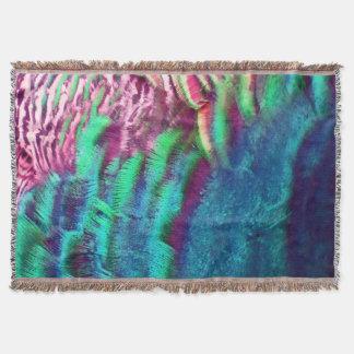 Rainbow Feathers Running Throw Blanket