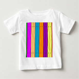 Rainbow Fence Baby T-Shirt