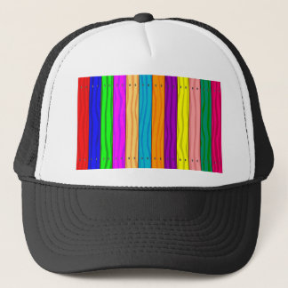 Rainbow Fence Trucker Hat