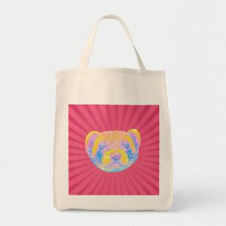 Rainbow Ferret Grocery Tote Bag
