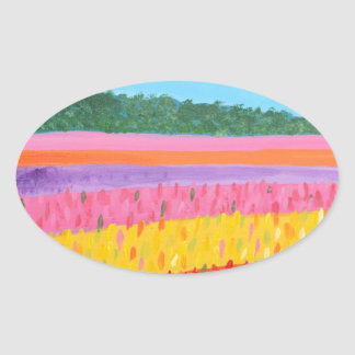 Rainbow Fields Art Stickers