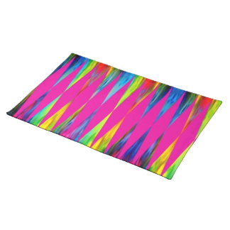 [Rainbow Fiesta] Bright Harlequin Geometric Placemat
