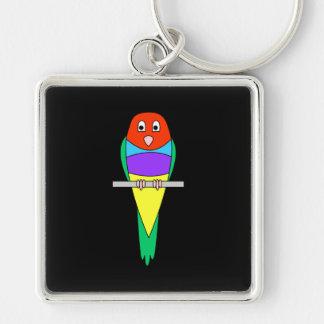 Rainbow Finch Bird. Gouldian Finch. Keychain